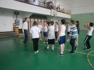 Boglári Általános Iskola Futball óra az 5.b-ben